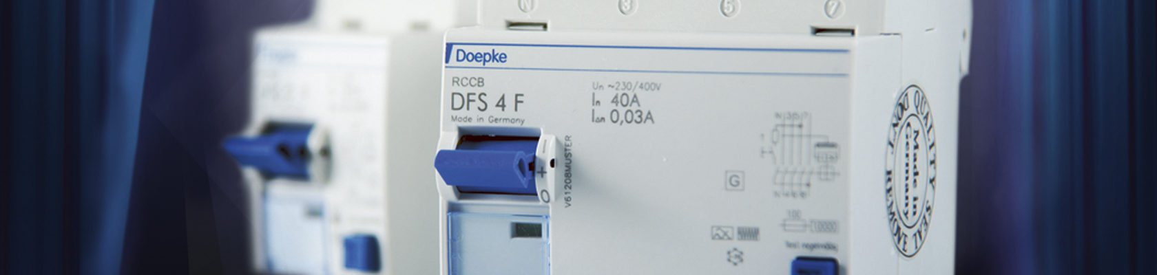 Mischfrequenzsensitive Fehlerstrom-Schutzeinrichtungen Typ F